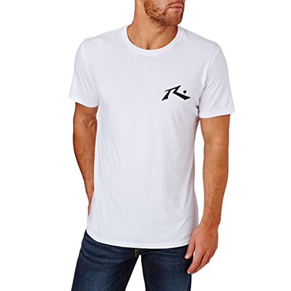 Rusty Competition T-Shirt - Surf Wear Tee in White XL (extra large