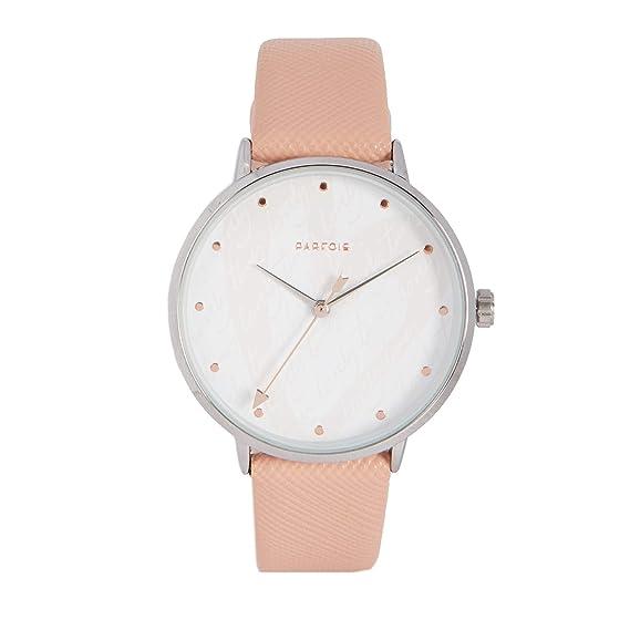 Parfois - Reloj Casual Silver Tray - Mujeres - Tallas Única - Rosa