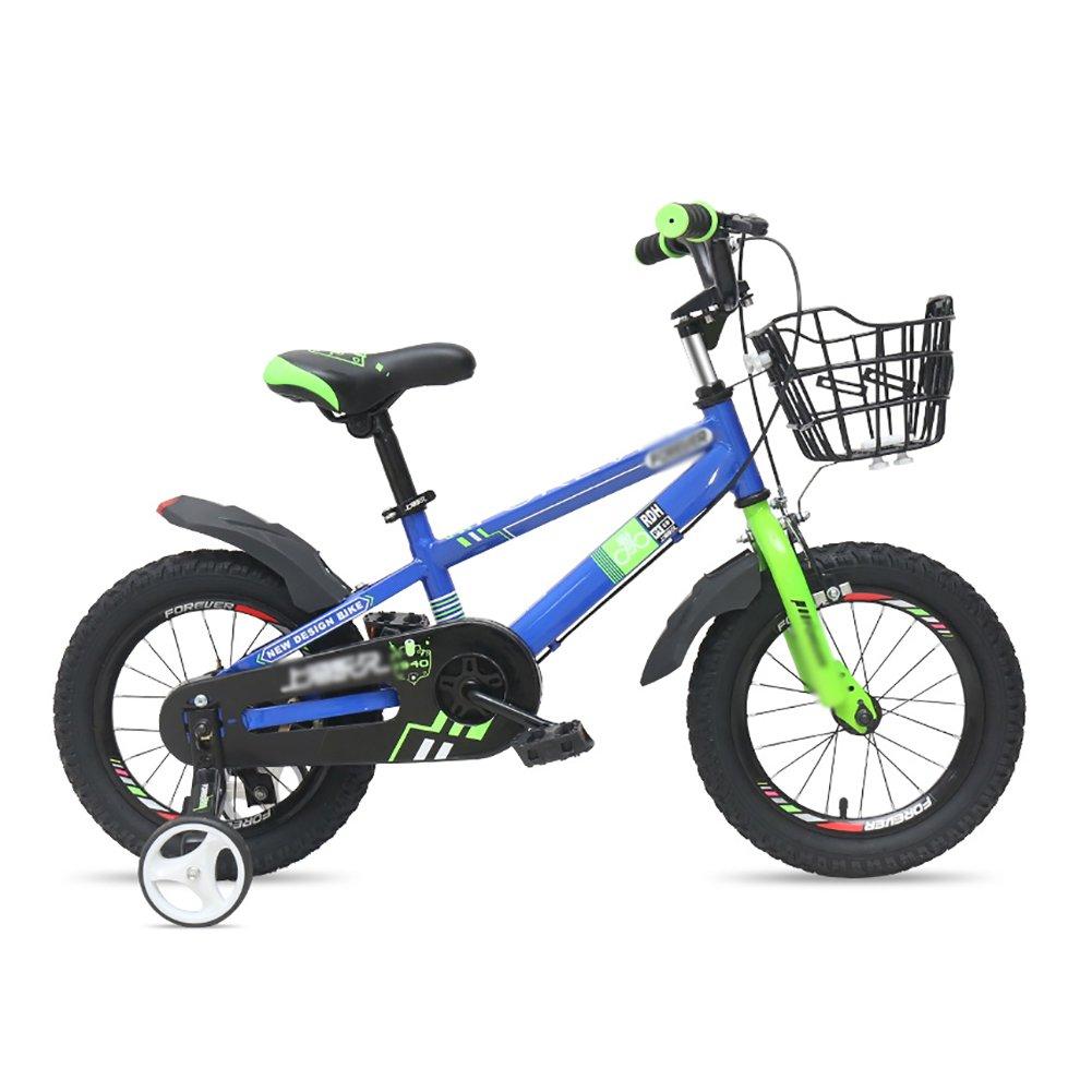 子供用自転車12 14 16インチ子供用自転車男の子と女の子2-8歳の赤ちゃんキャリッジ自転車スポークホイールワンホイールブルー B07DVVK2LQ 14 inch|Spoke wheel Spoke wheel 14 inch
