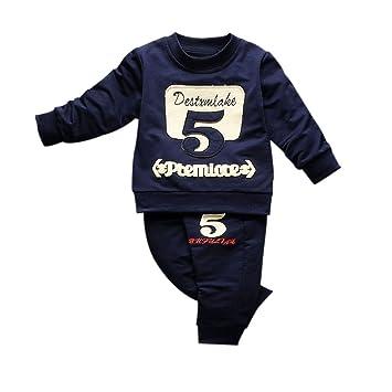 9f4647393 Amazon.com  Yihaojia Baby Boy 2 Piece Five Long Sleeve T-shirt Top+ ...