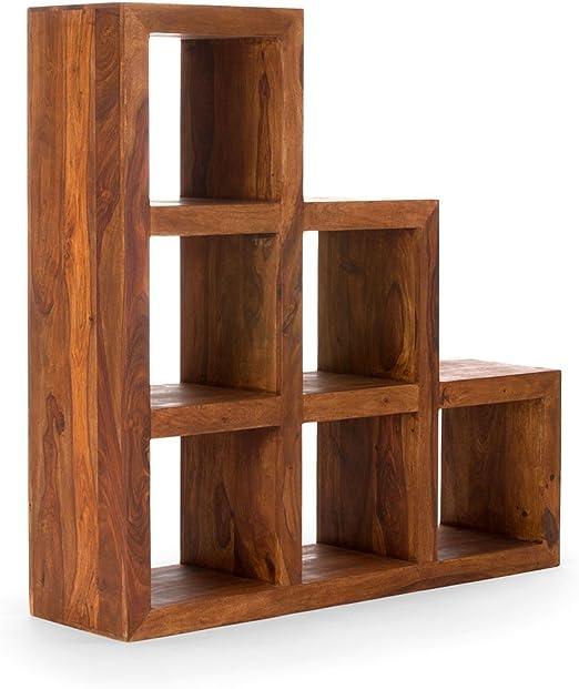 Escalera de estantería de madera con forma de cubo para miel de madera de palo de rosa: Amazon.es: Hogar