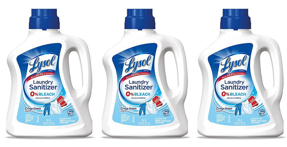 Lysol Laundry zodOw Sanitizer Additive, Crisp Linen, 90 Ounce (3 Pack)