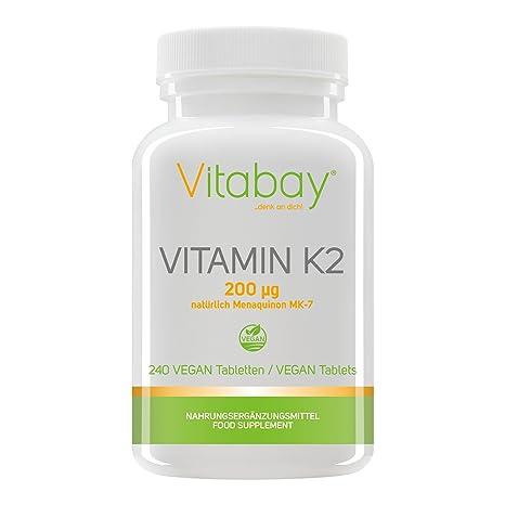 Vitamina K2 200 ?g (por supuesto Menaquinone MK-7) (240 tabletas