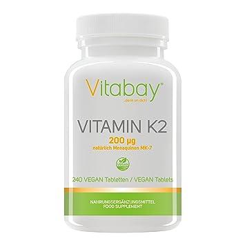 Vitamina K2 200 ?g (por supuesto Menaquinone MK-7) (240 tabletas veganas): Amazon.es: Salud y cuidado personal