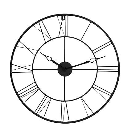 ZHB Reloj Reloj de Pared Simple Sala de Estar de Hierro Relojes y Relojes Pared de