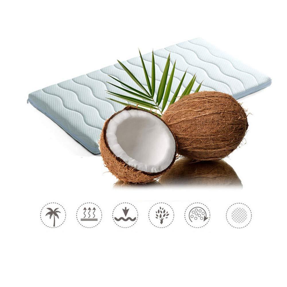 50cm Colchoneta de Coco Natural ecol/ógica para ni/ños colchoneta de Dormir extra/íble Cama de beb/é jard/ín de Infantes,90 HBIAO Colchon Cuna Impermeable