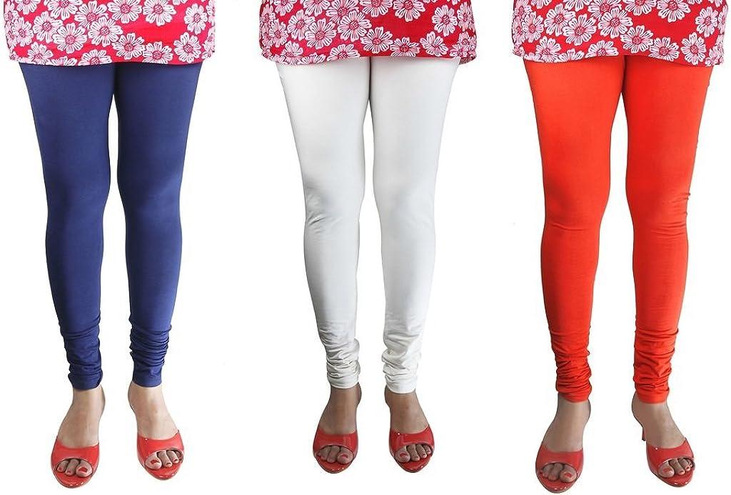 She Fashion Big Girls Cotton Ruby Design Leggings Pack Of 3
