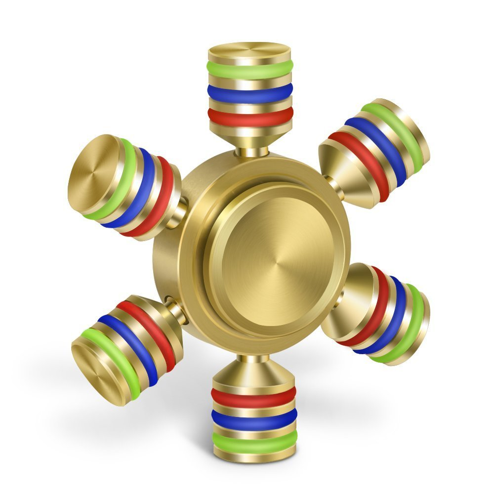 EPABO / Tri Spinner Hand Toy for Fidget,Second Generation Upgrade All Alloy Finger Spinner with Imported Ball Bearing,3+ mins Stable Rotation for EDC, ADHD, Anxiety Autism Adult Children (coppery)