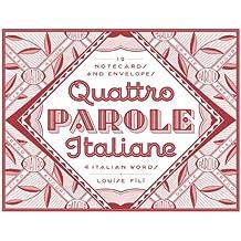 Quattro Parole Italiane: 12 Notecards and Envelopes