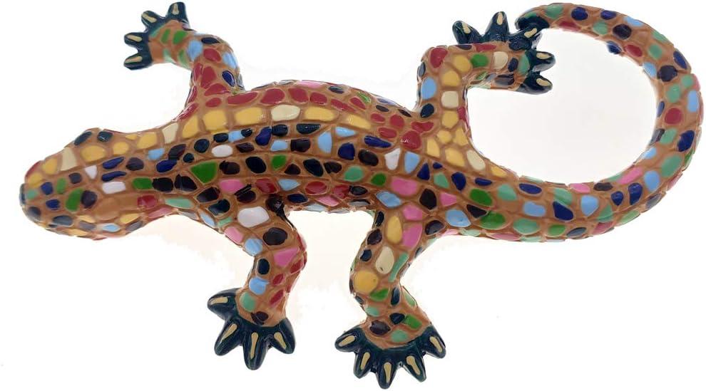 Hqiyaols Souvenir España Imán Recuerdos Mosaico Lagarto Parque Guell Barcelona 3D Refrigerador Imanes de Nevera Etiqueta de Recuerdo Cocina Resina: Amazon.es: Hogar