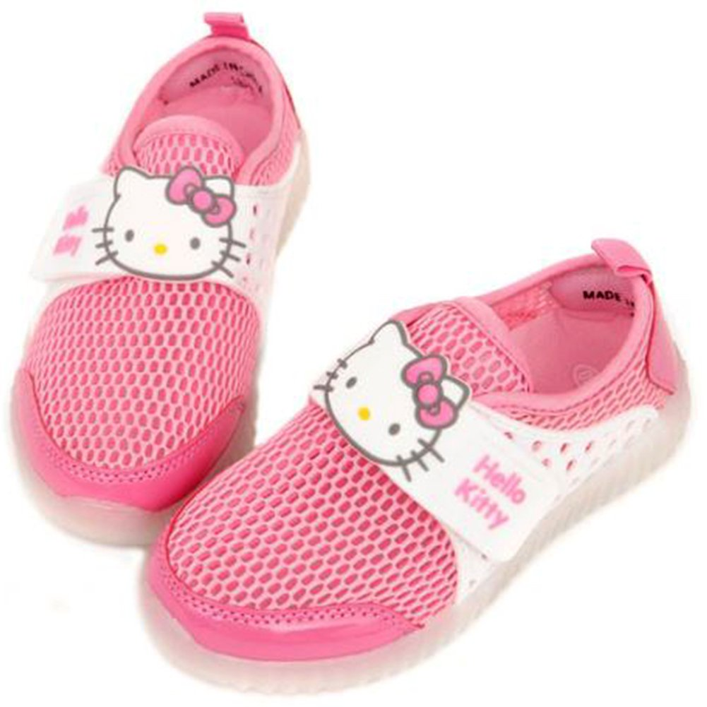 Parallel Import//Generic Product Joah Store Girls LED Light Up Summer Mesh Sneaker Hello Kitty Shoes