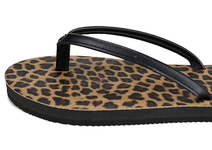 Nanxson(TM) Damen Frauen einfarbig Streifen Pantoletten Sandalen Slipper Zehentrenner TX0020 (37, Streifen)