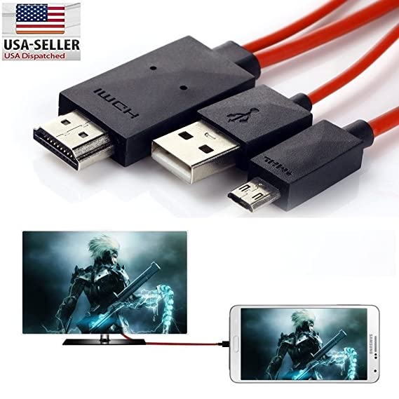 1c15e64dd25 Amazon.com  MHL Micro USB to HDMI TV Cable Adapter for Samsung ...
