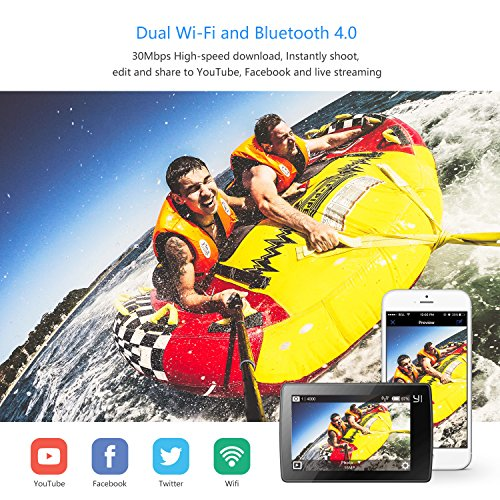 "61J0Qt76A9L - YI 4K Action Camera, 4K/30fps Video 2h Recording Time with 2.2"" Touch Retina Screen Sony IMX377 Image Sensor Live Sports Camera 40 Meters Waterproof Camera (Waterproof Case Not Included)"