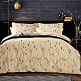 Chinese shtyle Vintage Bedding Collection Satin Embroidery 4 Piece Bed Sheet Set Durable Egyptian Cotton Duvet Cover Flat Sheets Pillowcases Size Full Queen Hotel Beige , queen