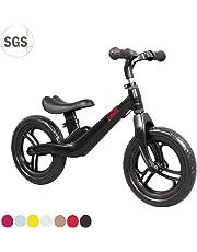 "COEWSKE 12"" Balance Bike Magnesio Lega No Pedal Walking Balance Training Bicicletta per Bambini e Bambini 2 a 4 Anni"