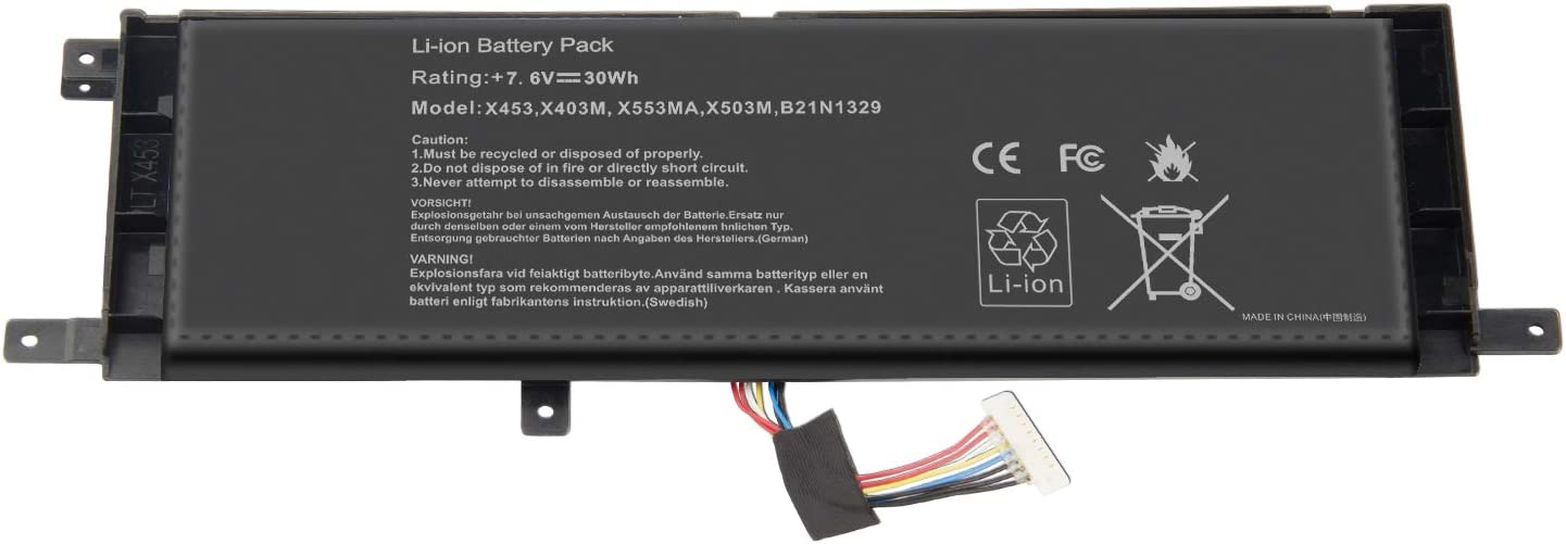 7.6V 30Wh Laptop Battery for Asus F453 F453MA F453MA F553 F553M P553 F553 D553M D553M P553 P553MA Series Notebook X453M F553M Ultrabook Series 0B200-00840000
