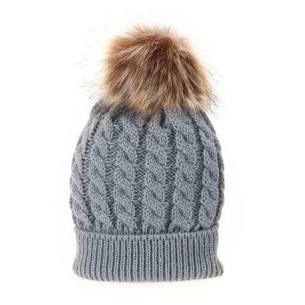 Domybest Cappello Caldo Morbido del Genitore-Bambino a Maglia di Cotone per Mamma e Bambino