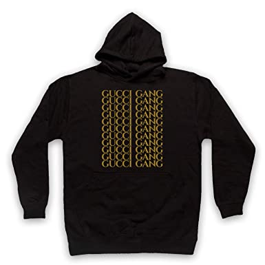 7abf6d68b Inspired Apparel Inspired by Lil Pump Gucci Gang Gold Print Unofficial  Adults Hoodie: Amazon.co.uk: Clothing