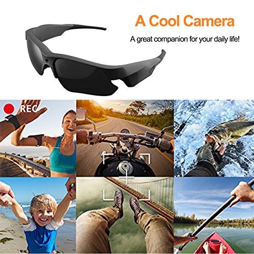 Sunglasses Camera, KAMRE Full HD 1080P Mini Video Camera with UV Protection Polarized Lens, A by KAMRE (Image #6)
