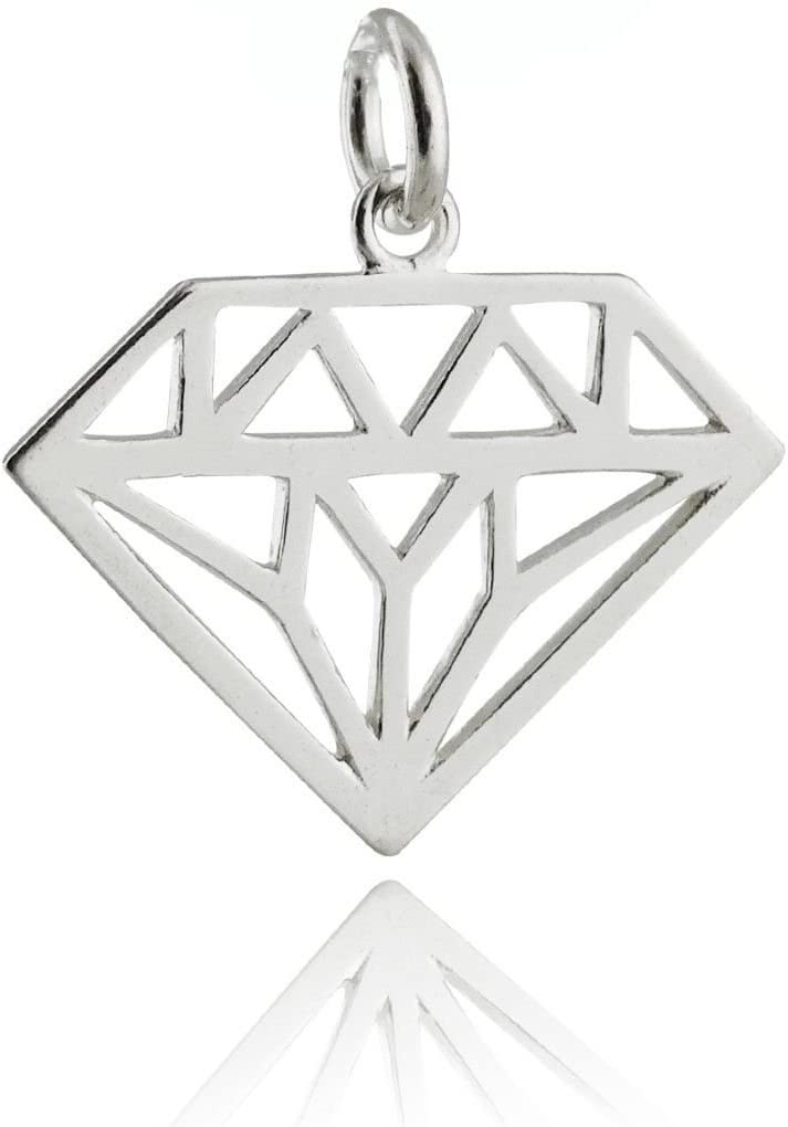 Designer 925 Sterling Silver Small Charm Pendant Diamond Charms Natural Diamond Pave Handmade Jewelry Silver Charms Christmas Gifts