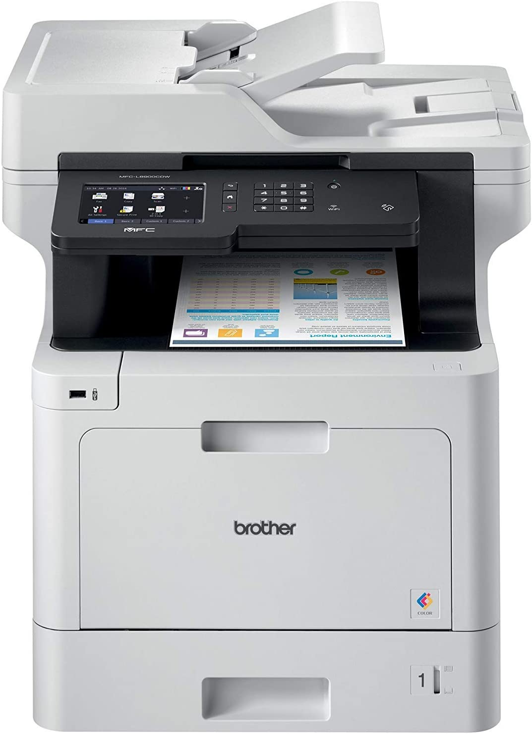 Brother MFC-L8900CDW Business Color Laser All-in-One Printer, Advanced Duplex & Wireless Networking, Business Printing, Flexible Network Connectivity, Mobile Device Printing & Scanning