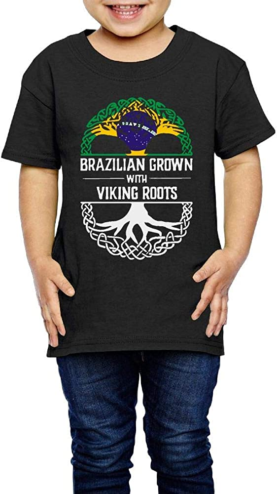 Brazilian Grown with Viking Roots 2-6 Years Old Child Short-Sleeved Tshirts