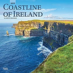 Coastline of Ireland 2019 12 x 12 Inch Monthly Square Wall Calendar, Travel Nature Ocean Cliffs Celtic