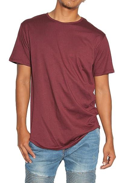 f753ae3a5ab TheMogan Men s Eptm Original Extended Long Curved Hem T-Shirt Tee Burgundy S