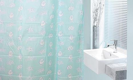 Tenda doccia stile europeo mare animali acqua muffa bagno doccia