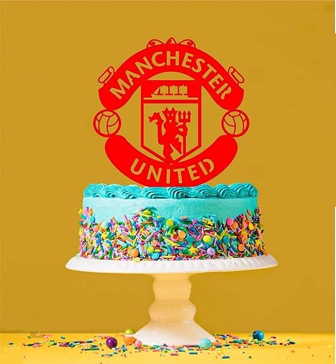 Manchester United Logo Cake Topper Amazon Co Uk Kitchen Home