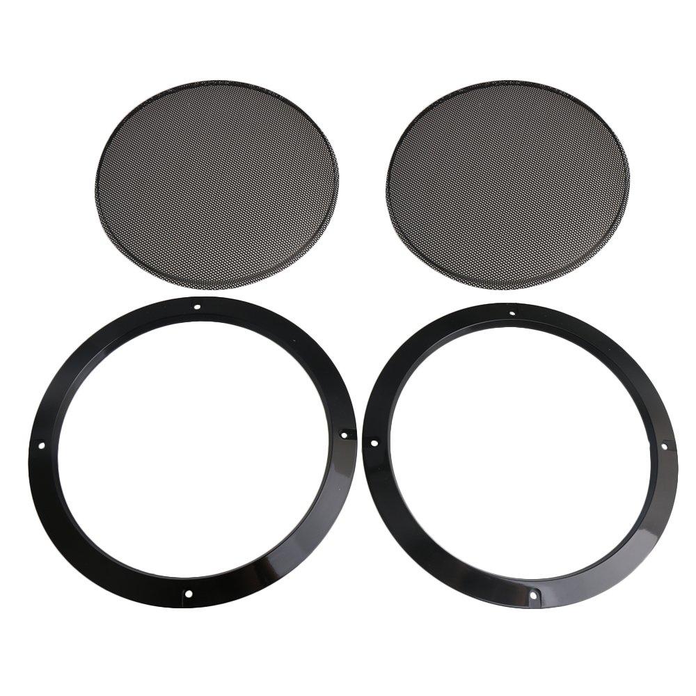 Bqlzr Black recinzione rete griglia rete protettiva copertura W/ABS plastica telaio DIY speaker accessori per 20,3cm altoparlante dell' automobile, confezione da 2 3cm altoparlante dell' automobile M4180521054