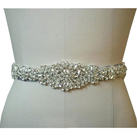 ShinyBeauty Strass mariée Sash Mariage Perle perlée Applique Mariage Sash  Ceinture Ivoire Ra009 a1b13333c87