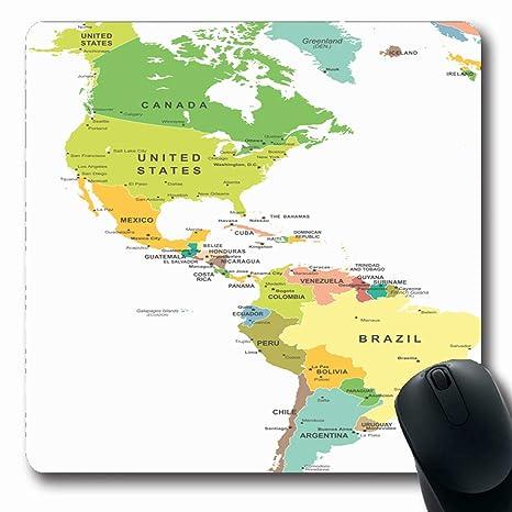 Amazon.com : Ahawoso Mousepads for Computers Color Central ...