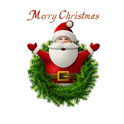 christmas windows stickers wall stickers 3d santa claus merry christmas decoration removable wall sticker festive