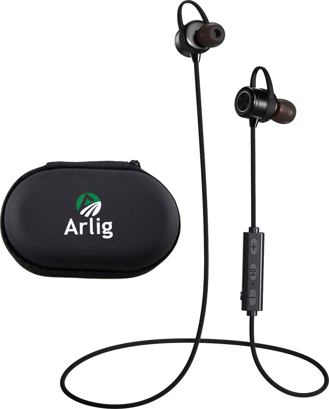 Arlig Wireless Bluetooth Earbuds with Microphone – Waterproof and Sweat-Proof Headphones – Magnetic in-Ear Headset with Noise Cancelling Mic – 9 hr Battery Life – Quick Charging – Freedom Sport Pro X1