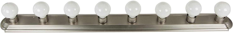 Amazon Com Sunlite 45300 Su Bathroom Vanity Light Fixture 48 Globe Style Wall Fixture 8 Lights Brushed Nickel Finish Home Improvement
