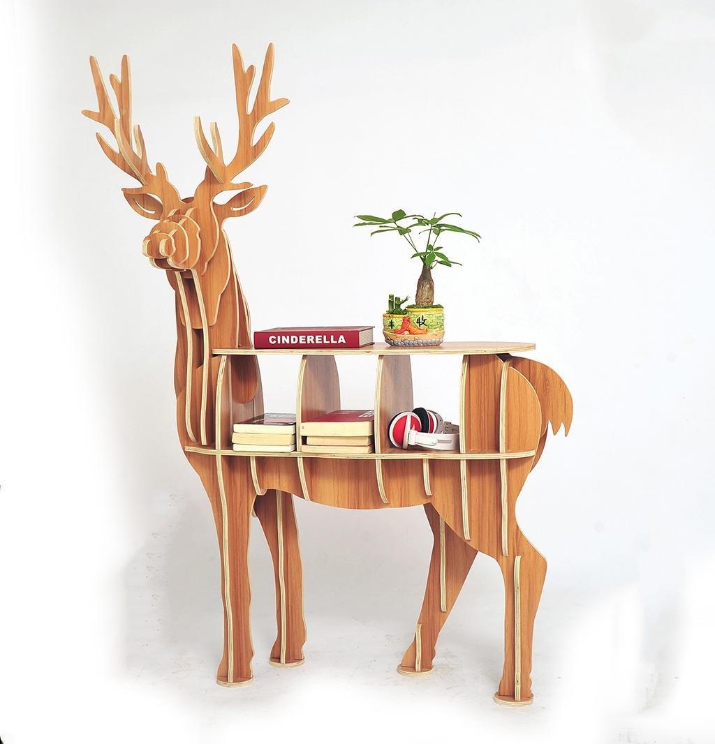 北欧ヘラジカ本棚家の装飾フロアフレーム縫い付け衣料品店、様々なサイズのフロアディスプレイスタンドリビングルームの窓の小道具, 13、床装飾品 B07DW3FPQB 13  13