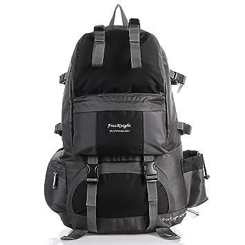50L Outdoor Waterproof Mountaineering Backpack Travel Hiking Camping Bag Pack (Black)