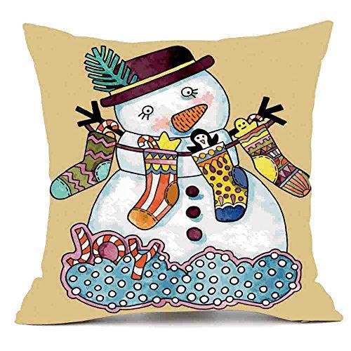 TOTOD Merry Christmas Pillows Cover Decor Pillow Case Sofa Waist Throw Cushion Cover