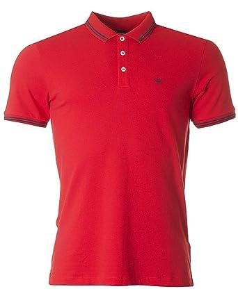 Emporio Armani Hombre Piqué Algodón Doble Camiseta Polo Punta Rojo ...