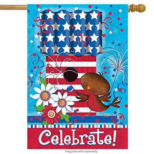 - Briarwood Lane Celebrate Bird Fourth of July House Flag Primitive Patriotic Birdhouse 28