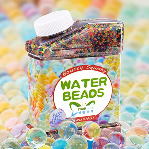 SailFish Water Beads,9 oz Pack (40000 Pcs) Rainbow Mix Gel Water Beads for Vases Filler,Plants,Wedding,Party and Home Decorations,Kids Tactile Sensory Toys Magic Beads Growing Balls (Each Pack 9 Ounce)