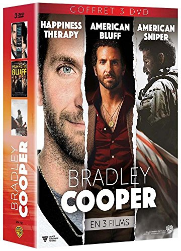 Bradley Cooper en 3 films: Happiness Therapy + American Bluff + American Sniper [Édition Limitée]