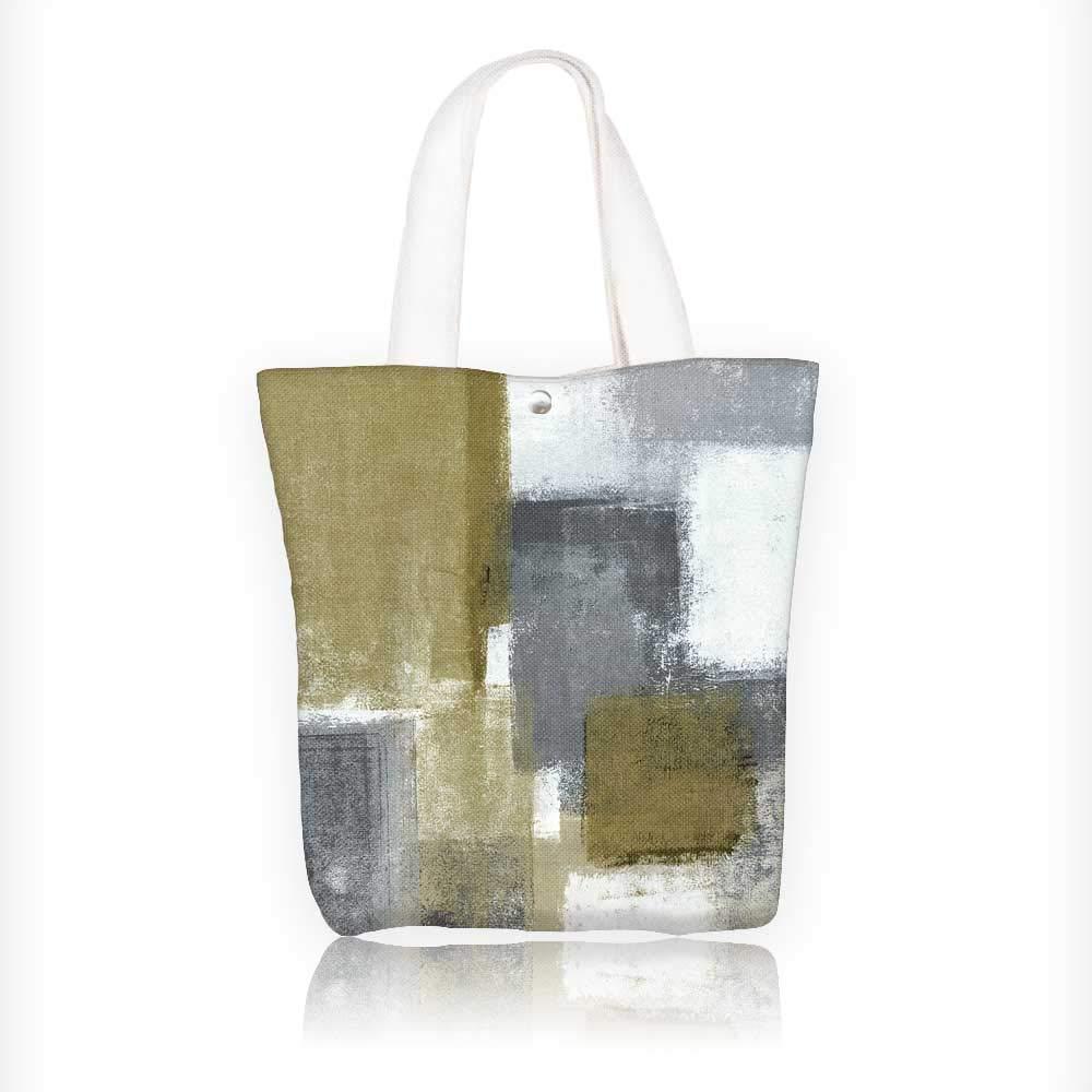 Bolsa de lona con cremallera impresa de pintura neutra ...