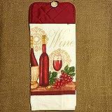 Wine Themed Hanging Dish Towel, Kitchen Decor