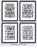 #5: Harry Potter Quotes and Sayings Art Prints | Set of Four Photos 8x10 Unframed | Great Unique Inspirational Harry Potter Gift