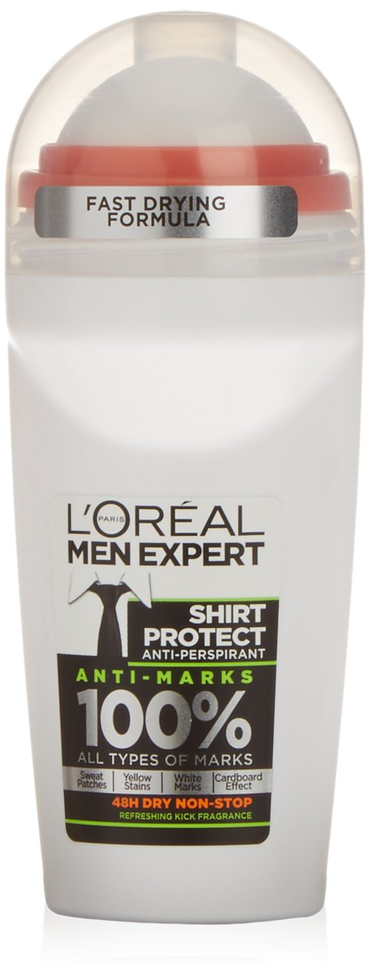 L'Oreal Paris Men Expert Shirt Protect 48H Anti-Perspirant Roll-On Deodorant 50ml L'Oréal Paris 3600522372639