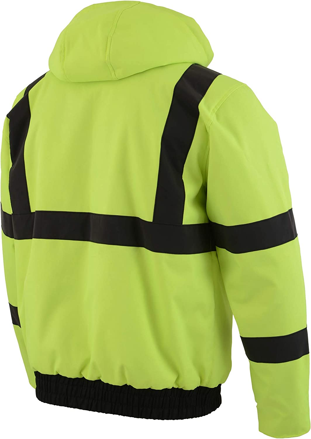Battery Included Milwaukee Leather High Viz Mens Textile Jacket W//Heating Elements NEON GREEN, LG