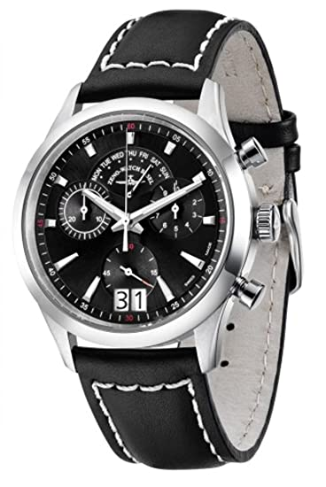 Zeno-Watch Reloj Mujer - Gentleman Cronógrafo Big Date Q - 6662-8040Q-